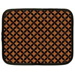 CIRCLES3 BLACK MARBLE & RUSTED METAL Netbook Case (Large)
