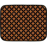CIRCLES3 BLACK MARBLE & RUSTED METAL Fleece Blanket (Mini)