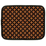 CIRCLES3 BLACK MARBLE & RUSTED METAL Netbook Case (XL)