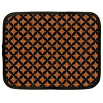 CIRCLES3 BLACK MARBLE & RUSTED METAL Netbook Case (XXL)
