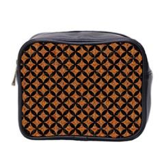 Circles3 Black Marble & Rusted Metal Mini Toiletries Bag 2 Side