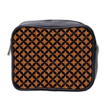 CIRCLES3 BLACK MARBLE & RUSTED METAL Mini Toiletries Bag 2-Side