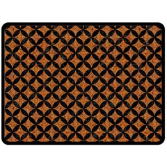 Circles3 Black Marble & Rusted Metal Fleece Blanket (large)