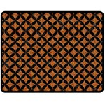CIRCLES3 BLACK MARBLE & RUSTED METAL Fleece Blanket (Medium)