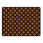 CIRCLES3 BLACK MARBLE & RUSTED METAL Fleece Blanket (Small)