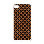 CIRCLES3 BLACK MARBLE & RUSTED METAL Apple iPhone 4 Case (White)