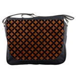 CIRCLES3 BLACK MARBLE & RUSTED METAL Messenger Bags