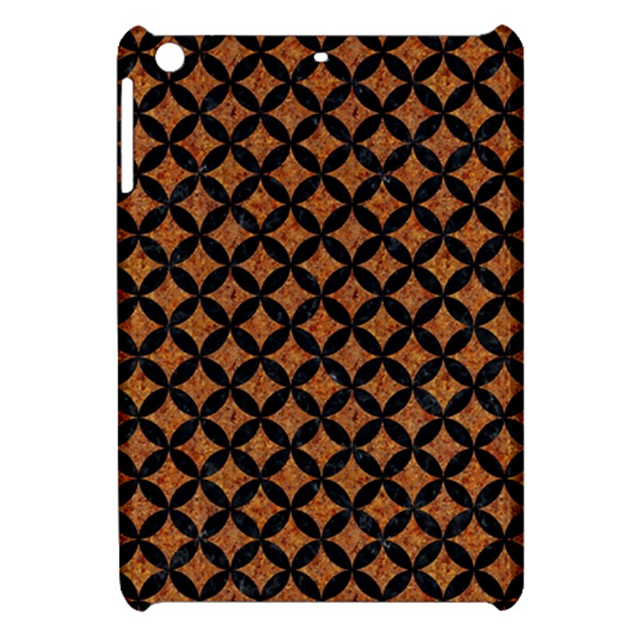 CIRCLES3 BLACK MARBLE & RUSTED METAL Apple iPad Mini Hardshell Case