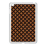 CIRCLES3 BLACK MARBLE & RUSTED METAL Apple iPad Mini Case (White)
