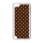 CIRCLES3 BLACK MARBLE & RUSTED METAL Apple iPod Touch 5 Case (White)