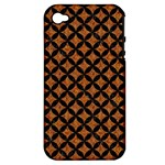 CIRCLES3 BLACK MARBLE & RUSTED METAL Apple iPhone 4/4S Hardshell Case (PC+Silicone)