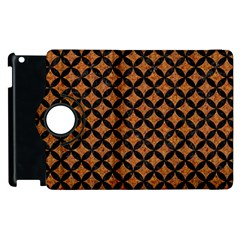 Circles3 Black Marble & Rusted Metal Apple Ipad 2 Flip 360 Case by trendistuff