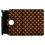 CIRCLES3 BLACK MARBLE & RUSTED METAL Apple iPad 3/4 Flip 360 Case