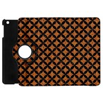 CIRCLES3 BLACK MARBLE & RUSTED METAL Apple iPad Mini Flip 360 Case