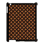 CIRCLES3 BLACK MARBLE & RUSTED METAL Apple iPad 3/4 Case (Black)
