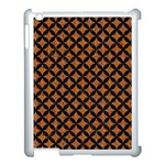 CIRCLES3 BLACK MARBLE & RUSTED METAL Apple iPad 3/4 Case (White)