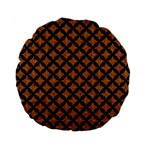 CIRCLES3 BLACK MARBLE & RUSTED METAL Standard 15  Premium Round Cushions Front