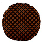CIRCLES3 BLACK MARBLE & RUSTED METAL Large 18  Premium Round Cushions