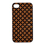 CIRCLES3 BLACK MARBLE & RUSTED METAL Apple iPhone 4/4S Hardshell Case with Stand