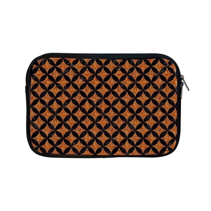 CIRCLES3 BLACK MARBLE & RUSTED METAL Apple iPad Mini Zipper Cases