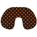 CIRCLES3 BLACK MARBLE & RUSTED METAL Travel Neck Pillows