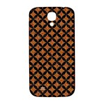 CIRCLES3 BLACK MARBLE & RUSTED METAL Samsung Galaxy S4 I9500/I9505  Hardshell Back Case