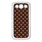 CIRCLES3 BLACK MARBLE & RUSTED METAL Samsung Galaxy S3 Back Case (White)