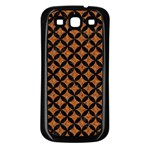 CIRCLES3 BLACK MARBLE & RUSTED METAL Samsung Galaxy S3 Back Case (Black)