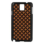 CIRCLES3 BLACK MARBLE & RUSTED METAL Samsung Galaxy Note 3 N9005 Case (Black)
