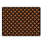 CIRCLES3 BLACK MARBLE & RUSTED METAL Double Sided Fleece Blanket (Small)