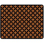 CIRCLES3 BLACK MARBLE & RUSTED METAL Double Sided Fleece Blanket (Medium)