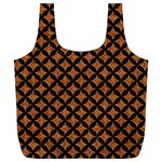 CIRCLES3 BLACK MARBLE & RUSTED METAL Full Print Recycle Bags (L)