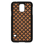 CIRCLES3 BLACK MARBLE & RUSTED METAL Samsung Galaxy S5 Case (Black)