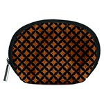 CIRCLES3 BLACK MARBLE & RUSTED METAL Accessory Pouches (Medium)