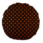 CIRCLES3 BLACK MARBLE & RUSTED METAL Large 18  Premium Flano Round Cushions