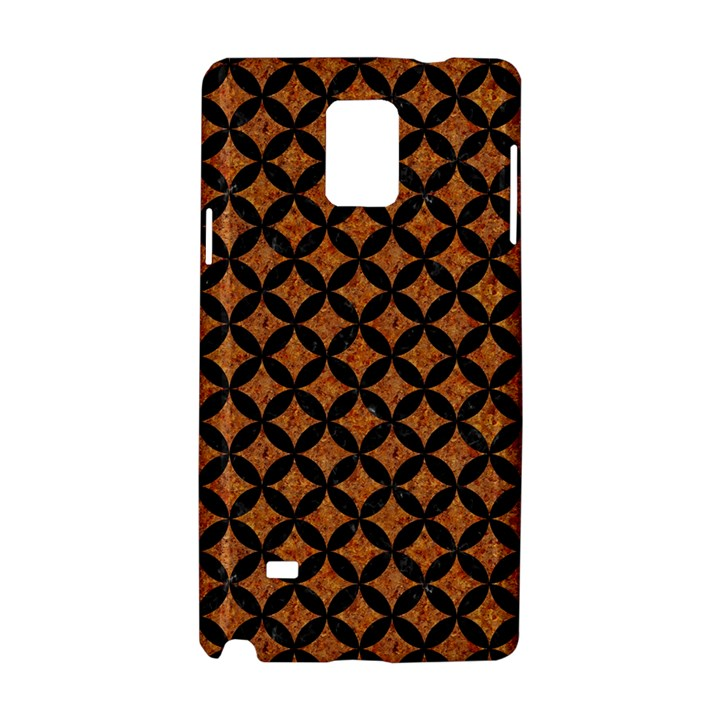 CIRCLES3 BLACK MARBLE & RUSTED METAL Samsung Galaxy Note 4 Hardshell Case