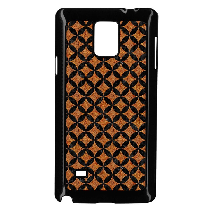 CIRCLES3 BLACK MARBLE & RUSTED METAL Samsung Galaxy Note 4 Case (Black)