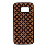 CIRCLES3 BLACK MARBLE & RUSTED METAL Samsung Galaxy S7 Black Seamless Case