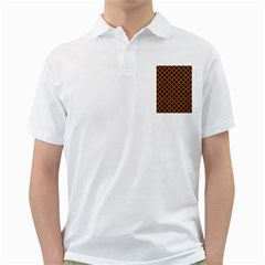CIRCLES3 BLACK MARBLE & RUSTED METAL (R) Golf Shirts