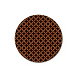 CIRCLES3 BLACK MARBLE & RUSTED METAL (R) Rubber Round Coaster (4 pack)  Front