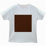 CIRCLES3 BLACK MARBLE & RUSTED METAL (R) Kids White T-Shirts