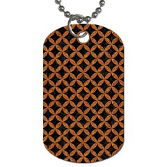 CIRCLES3 BLACK MARBLE & RUSTED METAL (R) Dog Tag (One Side)