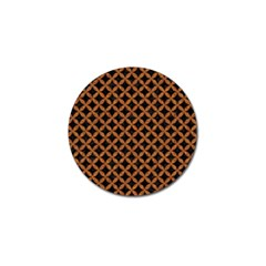 CIRCLES3 BLACK MARBLE & RUSTED METAL (R) Golf Ball Marker