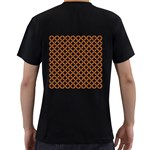 CIRCLES3 BLACK MARBLE & RUSTED METAL (R) Men s T-Shirt (Black) (Two Sided) Back