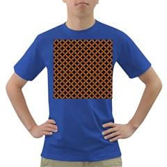 CIRCLES3 BLACK MARBLE & RUSTED METAL (R) Dark T-Shirt