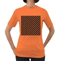 CIRCLES3 BLACK MARBLE & RUSTED METAL (R) Women s Dark T-Shirt
