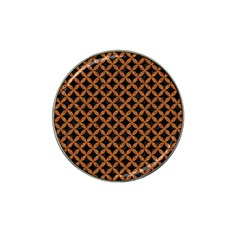 CIRCLES3 BLACK MARBLE & RUSTED METAL (R) Hat Clip Ball Marker (10 pack)