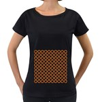 CIRCLES3 BLACK MARBLE & RUSTED METAL (R) Women s Loose-Fit T-Shirt (Black)