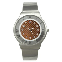Circles3 Black Marble & Rusted Metal (r) Stainless Steel Watch