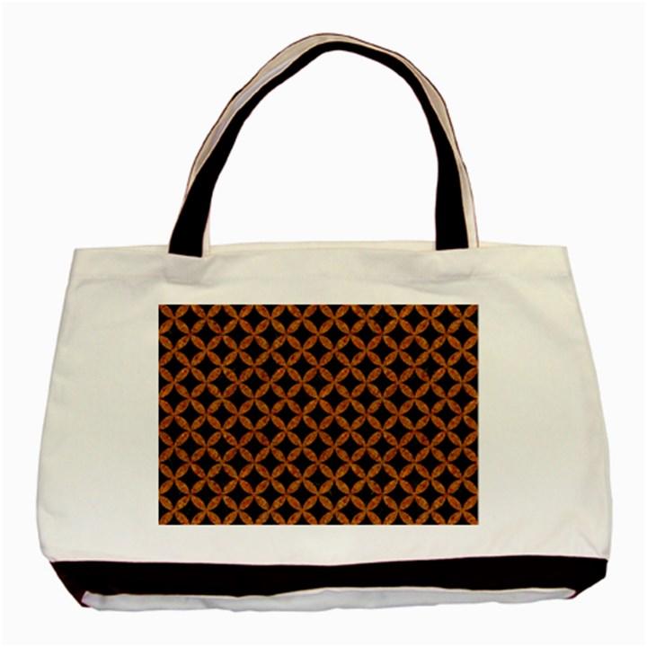 CIRCLES3 BLACK MARBLE & RUSTED METAL (R) Basic Tote Bag